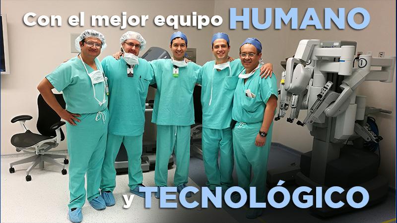 El mejor equipo humano y tecnológico urología