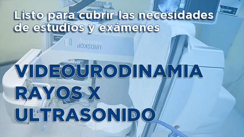 Estudios de urodinamia, rayos x y ultrasonido urológico