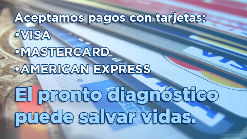 Paga tu consulta y tratamiento con tarjetas de crédito y débito